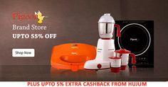 Get Upto 55% Off on Kitchen Appliances Plus Upto 5% Cashback from Hujum #ShopcluesCashback #ShopcluesCoupons #KitchenAppliances #PigeonBrandStore