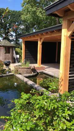 Outdoor Garden Rooms, Outdoor Living, Backyard Patio Designs, Backyard Landscaping, Home Spa Room, Modern Gazebo, Outdoor Cabana, Wood Pergola, Pond Design