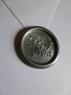 custom monogram wedding wax seal