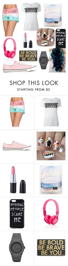 """""""Untitled #54"""" by luckylover0801 ❤ liked on Polyvore featuring Zoe Karssen, Converse, Nail Pop, JanSport, CC and Primitives By Kathy"""