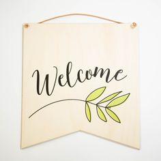 """""""Welcome"""" wall hang decor"""