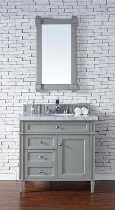 36 bathroom vanity grey. Contemporary 36 Inch Single Bathroom Vanity Gray Finish No Top Grey N