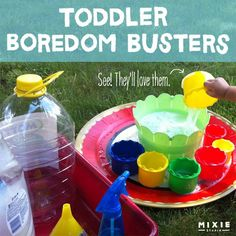 Keeping the Kids Busy : Toddler Boredom Busters! -- Great list of ideas!!