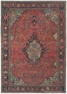 Persian Sarouk Farahan rug, 8ft 6in x 12ft 2in, late 19th Century, Claremont gallery
