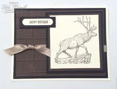 A quick and easy guy card. For all details visit my site lisastamps.com  Lisa Bowell Independent Stampin' Up demonstrator