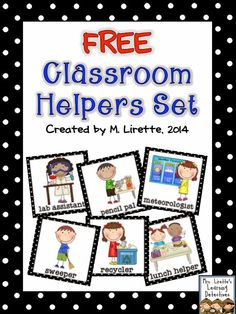 Black and Neon ..... Classroom Helpers Set {FREE}