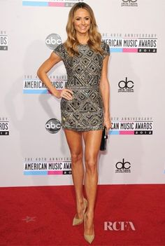 Taylor Swift, Heidi Klum and Stacy Keibler lead the metallics brigade on American Music Awards red carpet Stacy Keibler, Actrices Hollywood, American Music Awards, Beautiful Legs, Amazing Legs, Beautiful Women, Beautiful People, Heidi Klum, Well Dressed