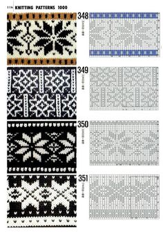 """Photo from album """"Knitting patterns book 1000 on Yandex. Designer Knitting Patterns, Knitting Designs, Knit Patterns, Knitting Projects, Stitch Patterns, Knitting Tutorials, Star Patterns, Knitting Charts, Knitting Stitches"""