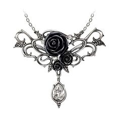 Alchemy Gothic Rose Choker ($63) ❤ liked on Polyvore featuring jewelry, necklaces, rose jewelry, chain choker necklace, goth choker, clear necklace and gothic jewelry