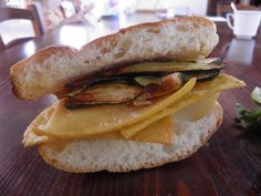 Panelle - the Sicilian chickpeas 'burger' with grilled zucchini