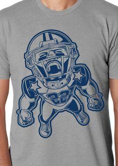 E22 Tee - Dallas Cowboys T-Shirt - Throwback Design Football Design 92ac376bc