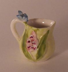 Butterfly Pitcher by Veronique Cornish - $24.00 : Swan House Miniatures, Artisan Miniatures for Dollhouses and Roomboxes