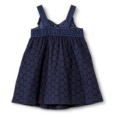 Toddler Girls Eyelet Bow Dress upper back wide elastic for better fit