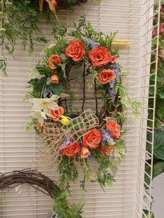 Summer bird nest wreath Sherrie