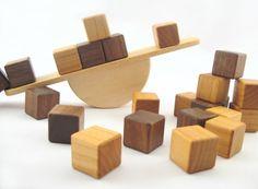 Balancing with wooden blocks