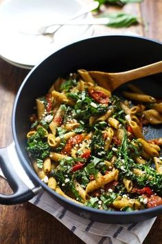 This 20 Minute Lemon Pesto Penne is my husband's favorite pasta! Baby broccoli, oven roasted tomatoes, and fresh lemon and basil.