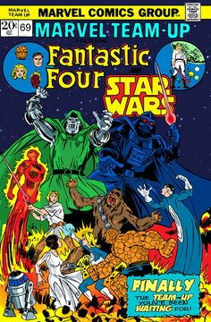Fantastic Four Star Wars Marvel Team Up - I wish this was real, 'cause it would be epic!!!!