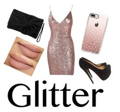 """""""Untitled #92"""" by mixedprincess ❤ liked on Polyvore featuring Christian Louboutin, Casetify and Karen Millen"""