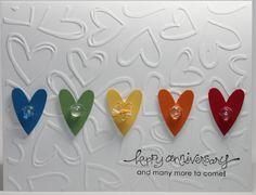 Happy Anniversary  Stampin Up Handmade Card. $3.00, via Etsy.