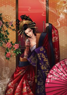 "Oiran (花魁?) were courtesans in Japan. The oiran were considered a type of yūjo (遊女?) ""woman of pleasure"" or prostitute. However, they are distinguished from the yūjo in that they were entertainers, and many became celebrities of their times outside the pleasure districts. Their art and fashions often set trends among the wealthy and, because of this, cultural aspects of oiran traditions continue to be preserved to this day."