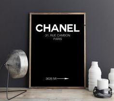 Chanel Kunstdruck Chanel Druck Chanel Poster von FineArtHunter