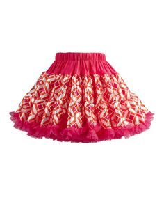 Look what I found on #zulily! Fuchsia Geometric Pettiskirt - Infant, Toddler & Girls by TUTU COUTURE #zulilyfinds