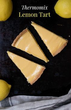 Make the perfect Thermomix Lemon Tart with this really easy recipe. Made with sweet shortcrust pastry and a zesty lemon filling, it's light, tangy and delicious. via # Easy Recipes sweets Thermomix Lemon Tart Recipe Lemon Recipes, Tart Recipes, Sweet Recipes, Baking Recipes, Dessert Recipes, Keto Desserts, Health Desserts, Homemade Cookbook, Bellini Recipe