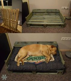 Pallet project- DIY dog bed. Love Labrador #DogProyects
