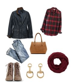 """""""A Day in the 'Burg"""" by tylir-penton on Polyvore featuring J.Crew, L.L.Bean, Madewell, New Directions and Gucci"""