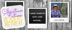 Christian Fiction Readers Retreat: Candid Moments with CFRR author Lisa Carter