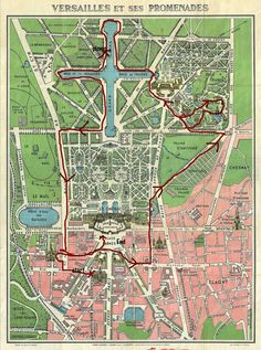 Versaille Bike Tour Route