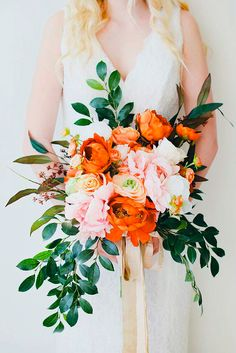 Colorful Wedding Flowers Fall - get the look: colorful wedding bouquets – afloral Fall Wedding Bouquets, Fall Wedding Flowers, Wedding Flower Arrangements, Bridal Flowers, Floral Wedding, Bouquet Flowers, Bridal Bouquets, Table Arrangements, Artificial Wedding Flowers