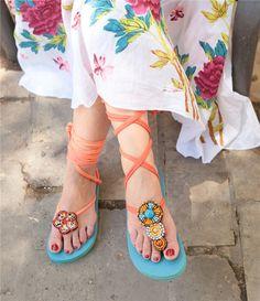 Lindas y pintorescas sandalias en trapillo. con diseño y materiales innovadores Originales con lindos acabados e ideas para tener sandalias únicas ...