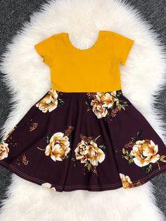 aa7b68b9a6 Girls Easter dresses   mustard plum Easter baby girls dresses   Easter  toddler dresses   plum floral dresses   floral dresses