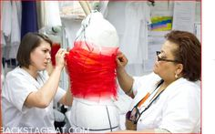 Scenes from the Christian Dior haute couture atelier