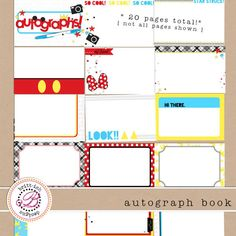 I created a free printable Autograph Book for CapturingMagic.Me  newsletter subscribers!  Yep - its emailed right to you for free when you s...