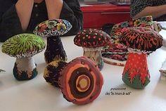 Mushroom pincushions