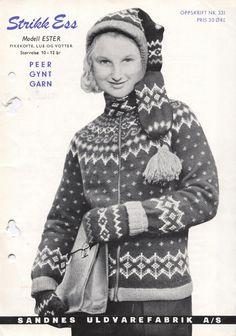 Ester 331 Norwegian Knitting, Knit Picks, Nordic Style, Christmas Sweaters, Scandinavian, Pillow Covers, Knitting Patterns, Crochet, Appreciation
