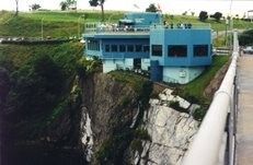 Watch the Reversing Rapids from The Falls restaurant in Saint John, New Brunswick