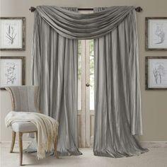 Elrene Athena Rod Pocket Curtain Panel Set of 3 - N/A