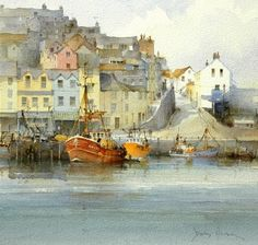 David Howell PPRSMA is a member of the Royal Society of Marine Artists. For art sales, commissioning opportunities or to discover more about David visit Mall Galleries site now. Watercolor Artists, Watercolor Landscape, Watercolour Painting, Landscape Art, Painting & Drawing, Landscape Paintings, Watercolors, Watercolor Trees, Watercolor Portraits