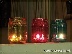 Dê novas funcionalidades para seus potes de vidro. Eles podem resultar em lindos porta velas, vaso de flores ou o que sua imaginação permitir.