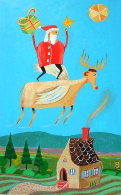Home - Nathaniel Mather #santa #illustration