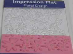 Impression Mat - Floral Design - Wide x Tall Ideal for use with sugarpaste, modelling paste, marzipan etc. This impression mat can be used to create embossed or raised designs. Marzipan, Floral Design, Create, Floral Patterns
