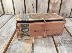 Antique Cigar Box/Cigar Box/Vintage Cigar by UpTheAntiqueCo