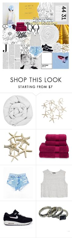 """""""SHE'S SO COOL"""" by dreams-of-pxrxdise ❤ liked on Polyvore featuring Vanity Fair, The Fine Bedding Company, DK, Lacava, Anja, Christy, MANGO and NIKE"""