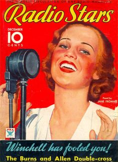 Art from: Radio Stars. A fan magazine about radio stars! Great pictures for you OTR fans. Star Magazine, Movie Magazine, Magazine Art, Magazine Covers, Old Movies, Vintage Movies, Retro Vintage, Vintage Hollywood, Classic Hollywood