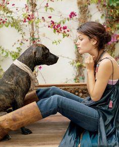 Rachel Bilson and dog