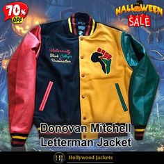 #Halloween Hot offer Get 70% OFF on Donovan Mitchell HBCU Pride Jacket. Shop From hjacket.com #HalloweenSale #Sale #2021 #OOTD #Style #Cosplay #Costume #Fashion #Jacket #fashionstyle #shopnow #Clothes #discountoffer #outfit #onlineshopping #discount #pumkinpatch #styleyourself #Halloween2021 #HalloweenGiftIdea #HalloweenCostume #halloween2021 #HalloweenClothes #HalloweenCostume2021 #HalloweenDay #Lettermans #Varsity #Bomber