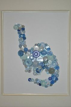 Button art....cute for a playroom